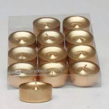 Tea Light Candles Amazon Com Metallic Shimmer Gold Tealight Candles Set Of 12 Tea