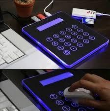 calculator hub novelty usb powered led multifunctional mousepad calculator 4 port