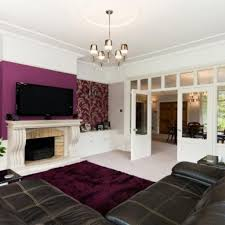 purple feature wall living room ideas http intrinsiclifedesign