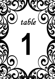 free table number templates free swirls printable diy table numbers for your wedding reception