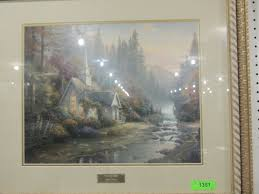 thomas kinkade library edition the forest chapel