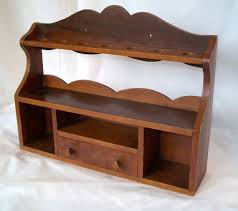 antique pipe stand vintage wooden shelf with drawer by pinkpainter