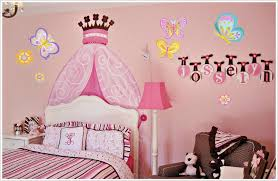 girls bedroom wall decals flowers stickers deco and for teenage