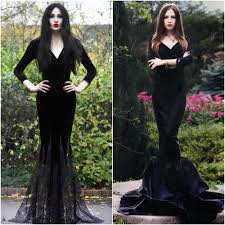 morticia addams adams family costume ideas fancy dress halloween