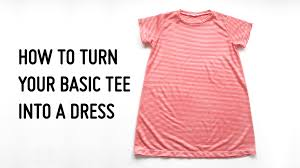 how to turn your basic tee into a dress hey there threads
