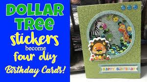 dollar tree stickers diy birthday cards four happy birthday