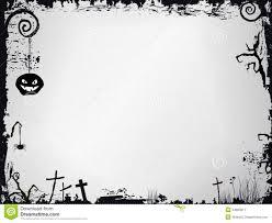 halloween border black and white grunge halloween frame stock vector image 44869211