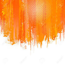 orange paint orange paint splashes background vector background with place