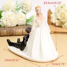 Funny Wedding Cake Toppers Bride Groom Resin Wedding Cake Topper Couple Figurine Romantic