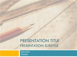 academic presentation for college course paper and pencil design