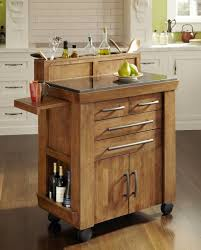 saving small kitchen spaces solutions with portable wooden island