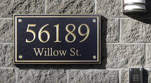 the mill decorative address plaques corian signs