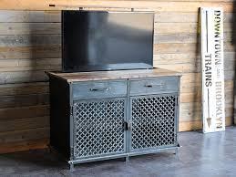 meuble tv caché meuble tv lift console vintage industriel popup caché