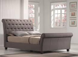innsbruk king size upholstered sleigh bed