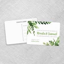 save the date postcard greenery save the date cards