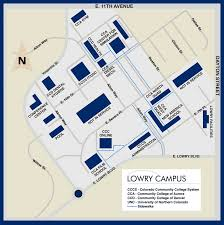 Map Of Denver Colorado by Lowry Campus Map Colorado Community College System