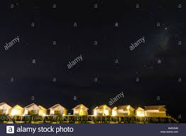 Maldives Cottages On Water by Abstract Blur Milky Way Over Water Villa Cottages On Maldives