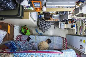 life in a 60 square foot apartment flat in hong kong