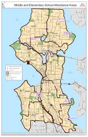 seattle map by district revised new seattle schools assignment areas pinehurst