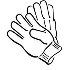 pair of gloves in winter clothing colouring page colouring tube
