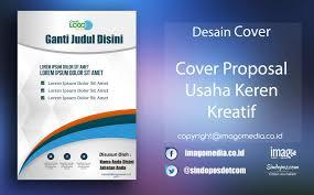 contoh desain proposal keren download template desain cover proposal usaha keren kreatif imago