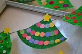 real life one day at a time paper plate christmas tree garland