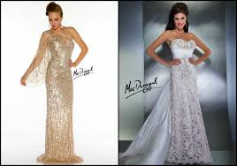 wedding dress pendek gown mac duggal