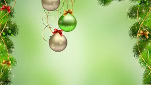 christmas greeting background with wreath and silver beautiful