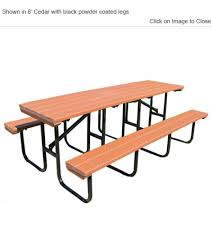 Poly Picnic Tables by Poly Park Spt Rectangular Picnic Table Outdoor Poly Furniture
