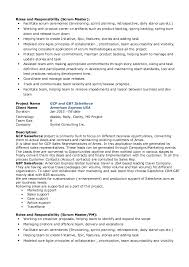 master resume template scrum master resume resume templates