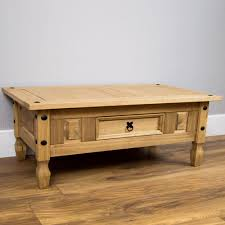 Discount Pine Furniture Corona Coffee Table With Drawer Console Table Mexican Pine