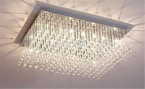 Rectangle Chandeliers Modern Fashion Glass K9 Chandeliers Rectangle Ceiling