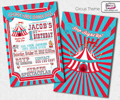 traditional carnival and circus invitations on storenvy
