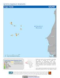 Cabo Verde Map Maps Global Rural Urban Mapping Project Grump V1 Sedac