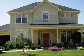 exterior house colors with red door excellent home design