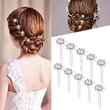 decorative hair pins rosenice wedding hair pins bridal silver flower pearl