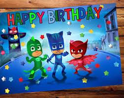pj masks birthday etsy