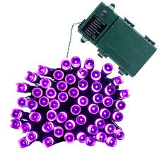 battery operated lights with timer 50 led battery powered purple fairy string lights with timer