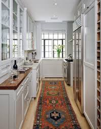 traditional galley kitchen perfect design on living room simple