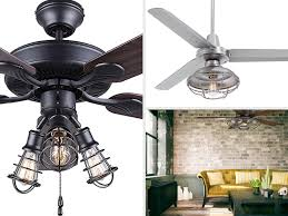Caged Ceiling Fan With Light Best Ceiling Fans For Living Room U2014 Advanced Ceiling Systems