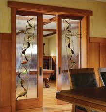 Interior Glass Sliding Doors Interior Stained Glass Sliding French Doors Stained Glass Doors