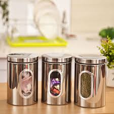 buy kitchen canisters 1pc high quality stainless steel canister jar bottle box set with