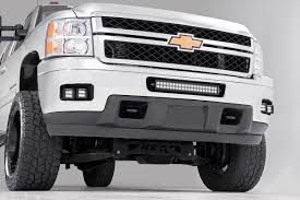 Chevy Silverado Truck Accessories - 2 inch square cree led fog light kit for 11 14 chevrolet silverado