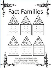 number fact families fact families missing addend open ended worksheets tpt