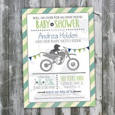 infant motocross boots motocross baby shower open house invitation custom