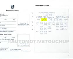 porsche paint code locations touch up paint automotivetouchup