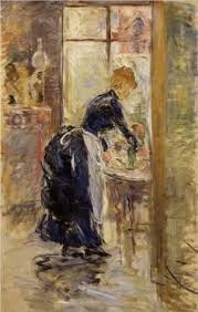 Berthe MorisotIn The Dining Room  ПРИСЛУГА СЛУЖАНКИ - Berthe morisot in the dining room