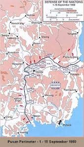 pusan on map battle of the pusan perimeter