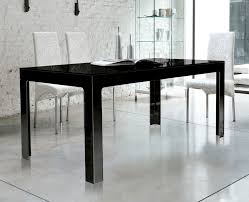 Glass Rectangular Dining Table Contemporary Dining Table Tempered Glass Rectangular Black
