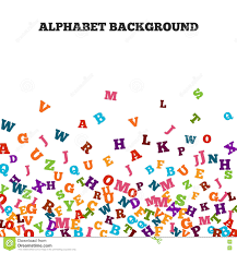 abstract black alphabet ornament frame on white background stock